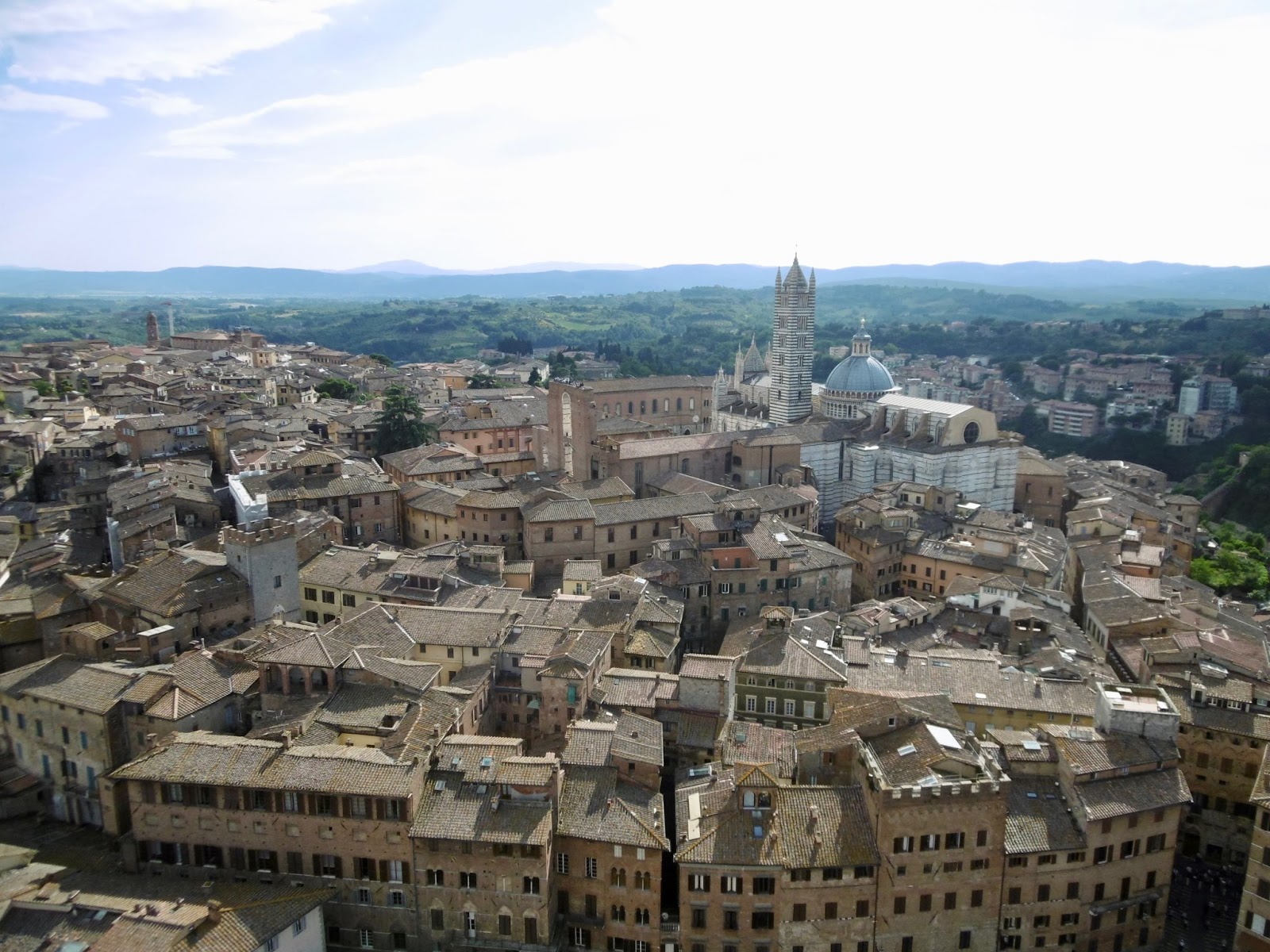 The view from the top of the Siena Tower in Italy,  Cal McTravels