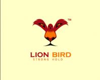 Logotipo inspirado en un león y pájaro