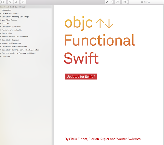 Functional Swift - Learn core concepts of functional programming with Swift and leverage them in real world code - Objc.io books