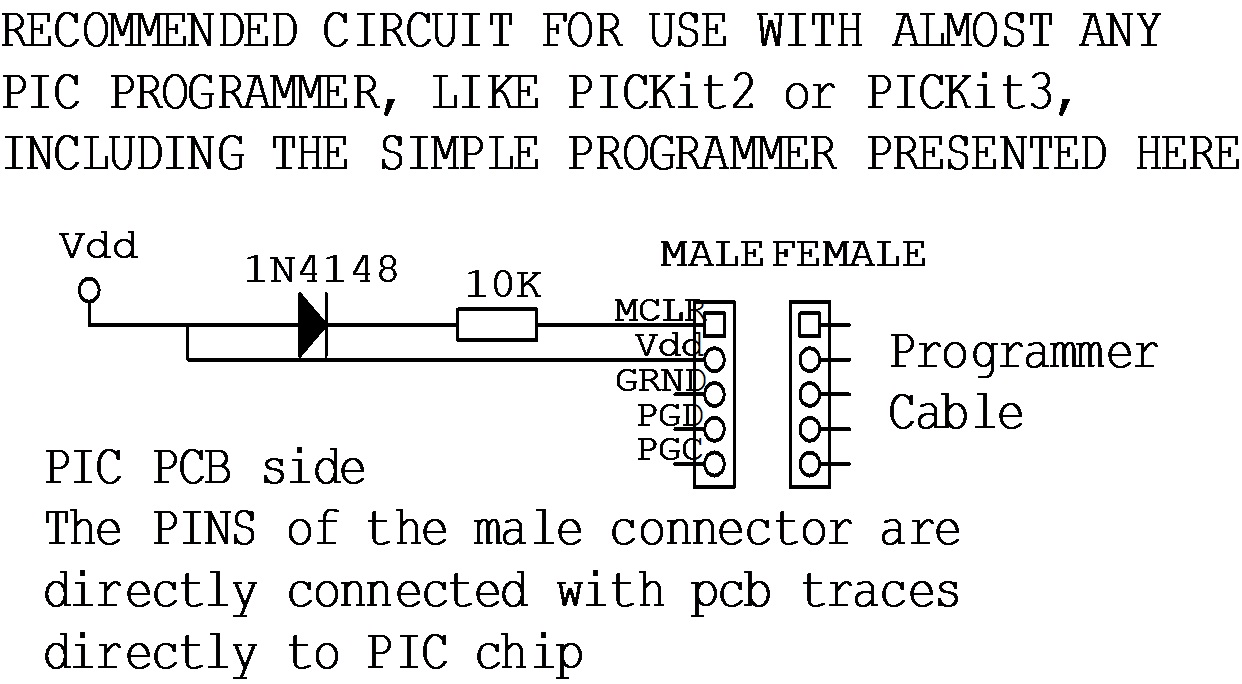 Sv1bgm Simplest Pic Programmer Ever Pickit 3 Circuit Diagram When You Design Your Pcb Follow The Above Connection This Way Can Use Any In Available And Will Save A Lot Of Trouble