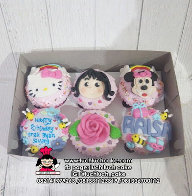 Cupcake Ulang Tahun Mickey dan Minnie Mouse