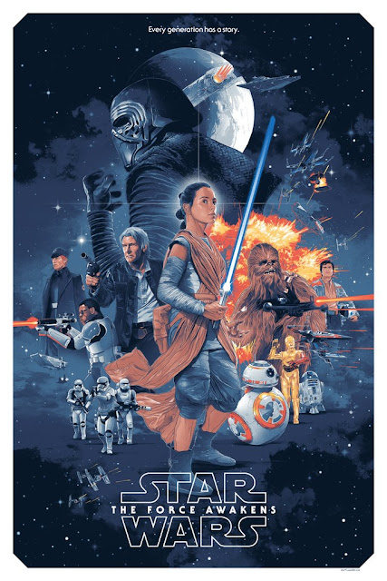 Star Wars: The Force Awakens Regular Edition Screen Print by Gabz x Bottleneck Gallery x Acme Archives