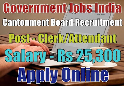 Cantonment Board Saugor Recruitment 2018