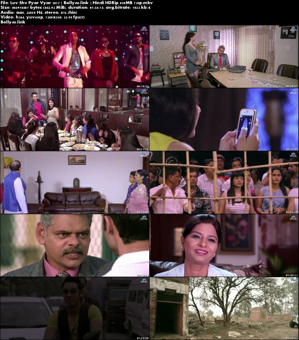 Luv Shv Pyar Vyar 2017 HDRip 850Mb Hindi 720p Download
