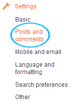 posts and comments