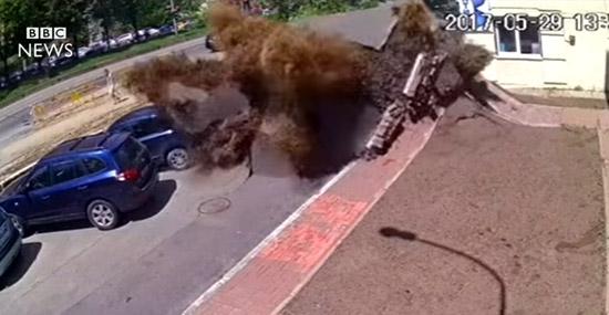 Explosão na Ucrânia parece cena de filme catástrofe mas foi real
