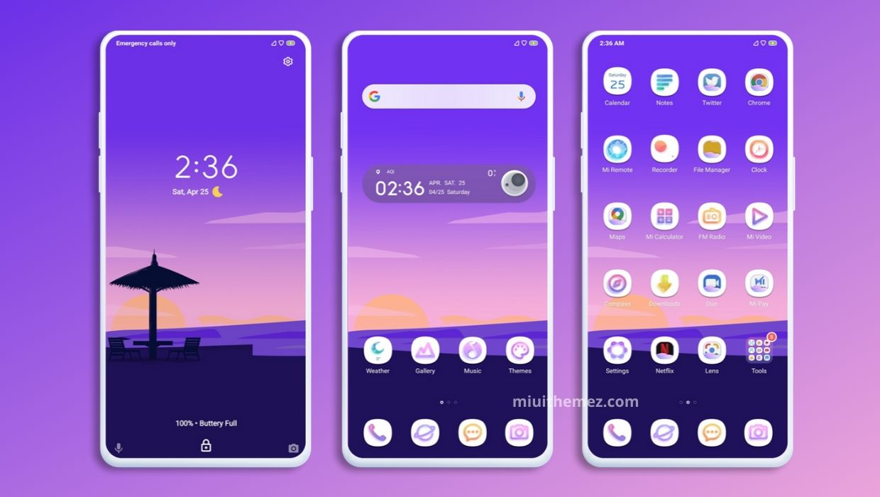 Purple One MIUI Theme