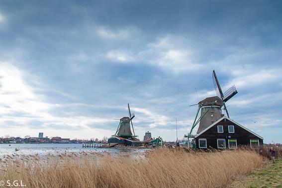 Molinos en Zaanse Schans. Excursion desde Amsterdam: Volendam, Marken y los molinos