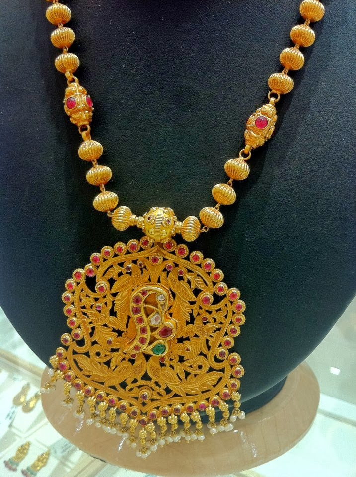 Antique gold chain with pendant jewellery designs antique gold chain with pendant aloadofball Gallery