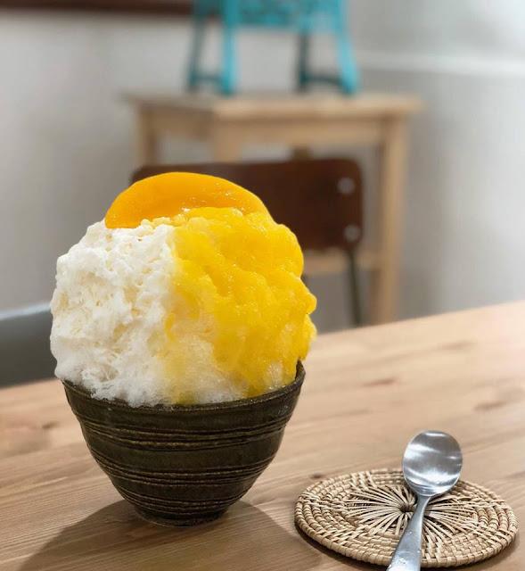 Swan ice shaver 極致鵝絨日式刨冰 鵝絨雪花冰 鵝絨冰的季節已經來了 夏天刨冰 赤峰街 奌冰室 芒果冰 芒果日式刨冰-swan-kakigori-time-for-shavedice-jabintw-mango-mango
