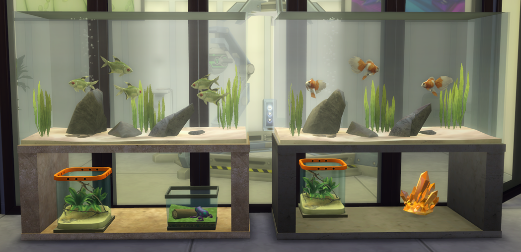My Sims 4 Blog Fish Tanks And Sea Urchins By TheShed