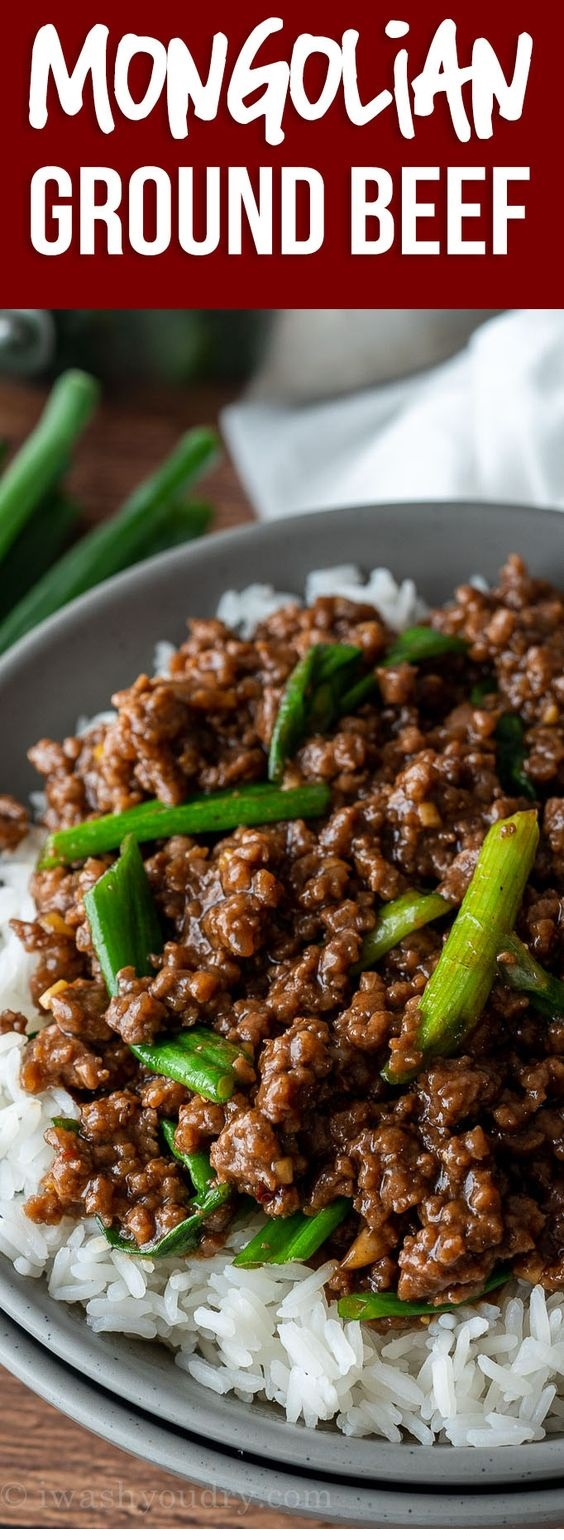 Easy Mongolian Ground Beef Recipe