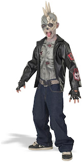 Boys Punk Zombie Child Costume for Halloween