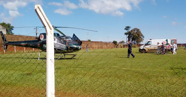 Borrazópolis:Helicóptero do Graer transporta paciente para Apucarana