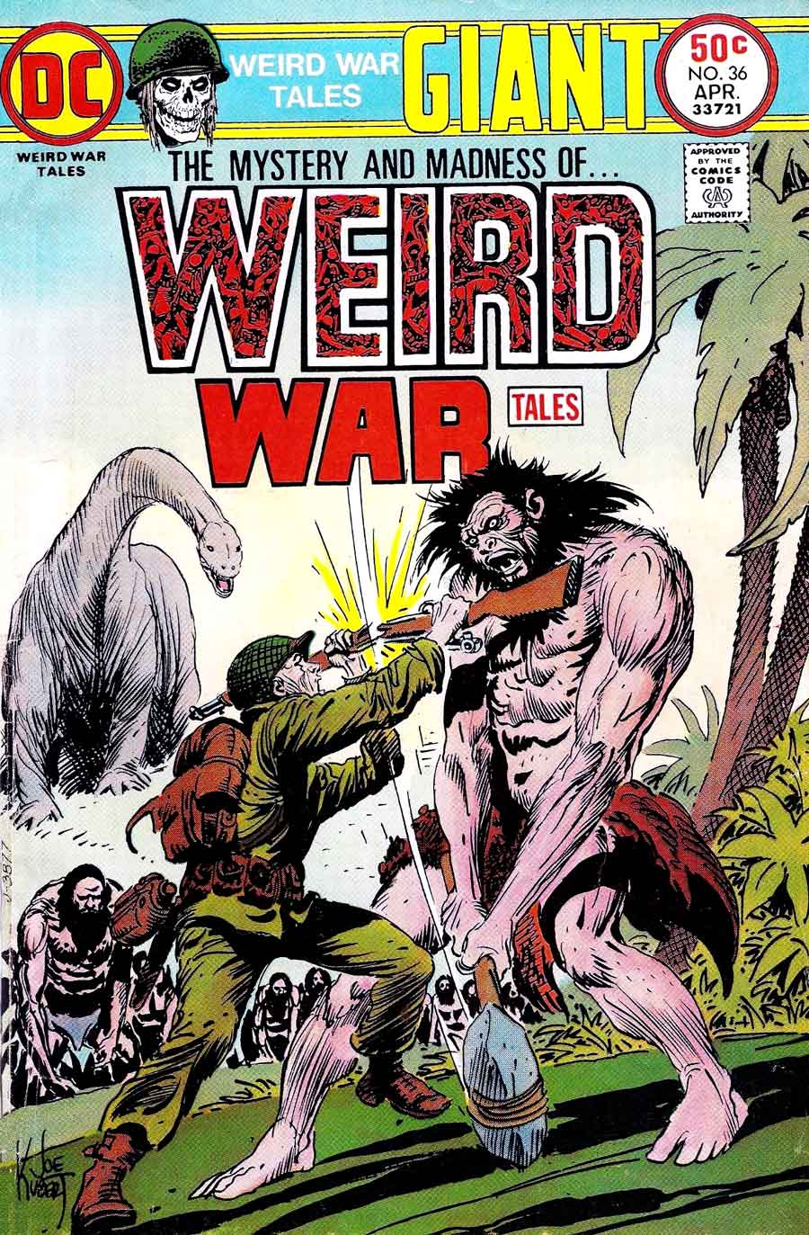 Weird War Tales v1 #35 dc bronze age comic book cover art by Joe Kubert