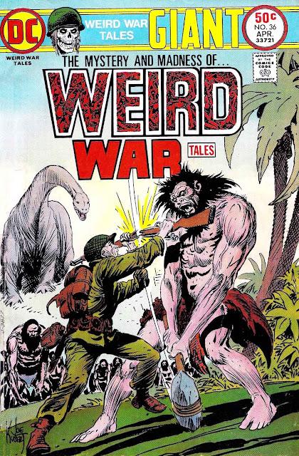 Weird War Tales v1 #35 dc bronze age comic book cover art by Joe Kubert