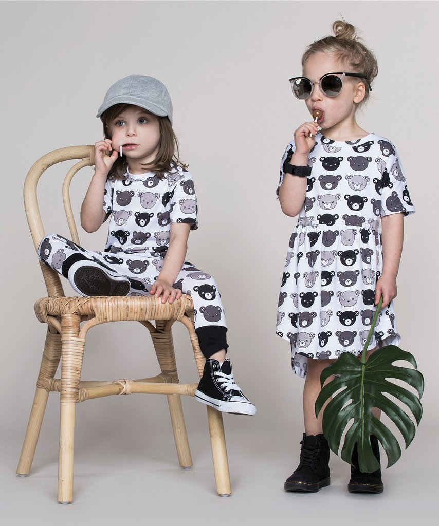 Huxbaby - monochrome kids fashion SS16/17 - grey bears