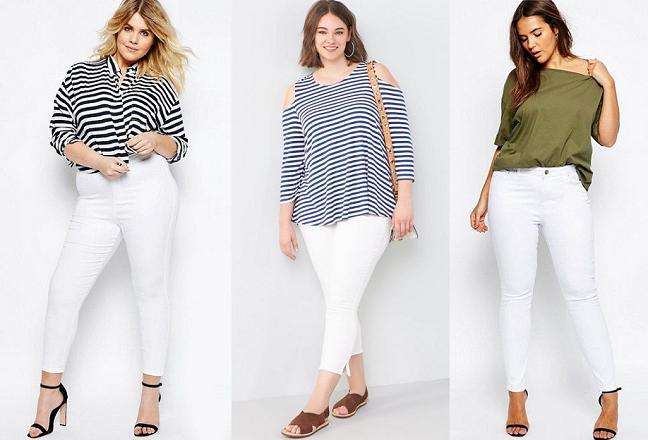 White Jeans Plus Size Women