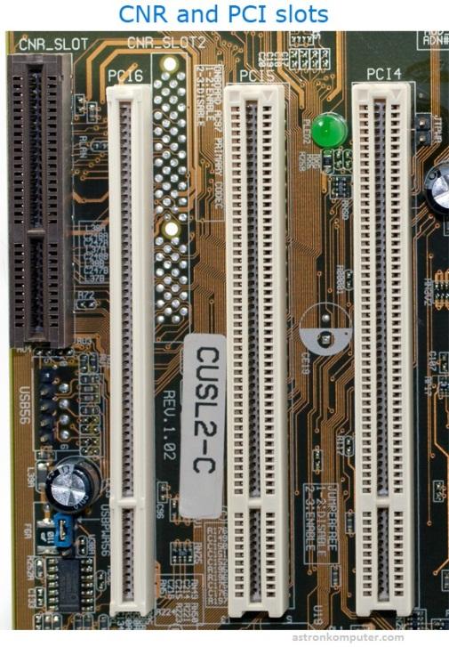 Slot PCI dan CNR