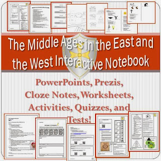 The Middle Ages in the East and the West Interactive Notebook