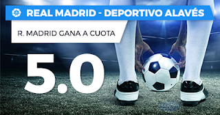 Paston Megacuota Liga Santander: Real Madrid vs Alaves 24 febrero