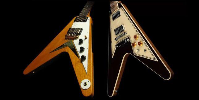 Diferentes Puentes y Golpeadores en la Guitarras Eléctricas Gibson Flying V