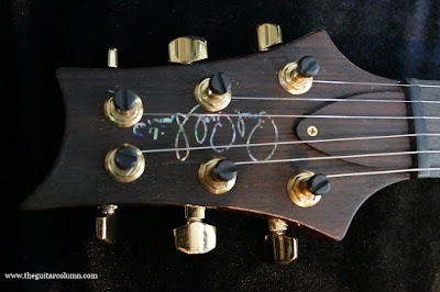 PRS Custom 24 Artist headstock abalone inlay
