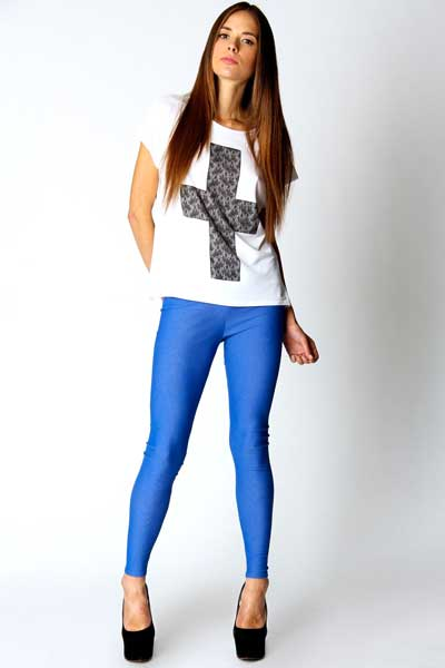 Girls Black And White Leggings