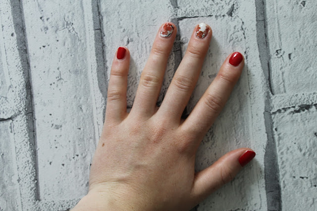 Dinki Belle Nail Wraps Review, Review, Nail Wraps, Red Nails, Blossom Pattern, Nails, Beauty Review, Beauty Blogger,