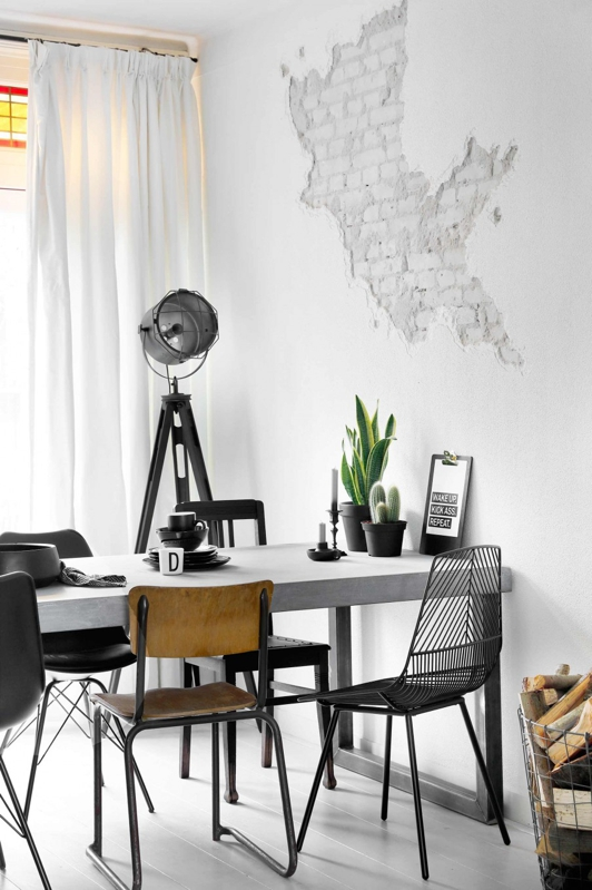 Preciosa decoración en blanco y negro chicanddeco