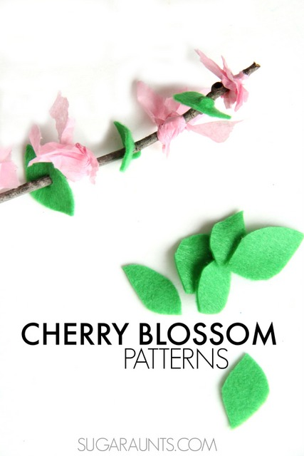 Cherry Blossom fine motor and pattern activity for Spring. This is a fun activity for Kindergarten and first grade math.