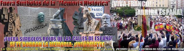 ¡Fuera Símbolos Rojos de las Calles de España!