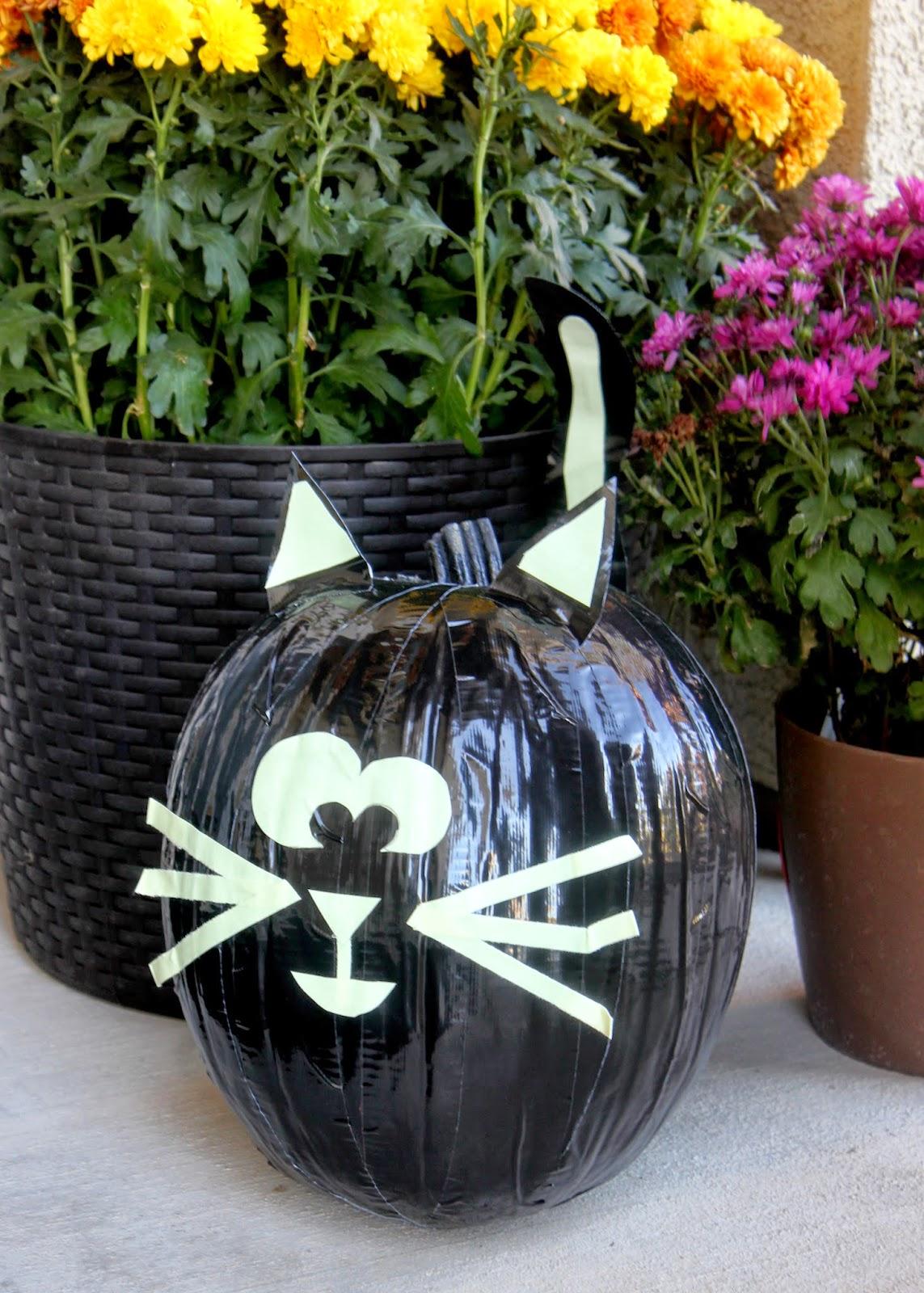 black cat jack o lantern