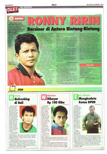 LIGA INDONESIA: BINTANG RONNY RIRIN