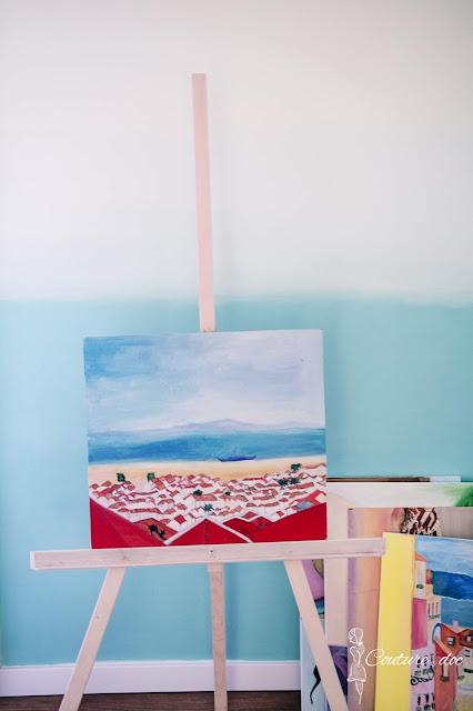 sztaluga, diy, drewno, malarstwo