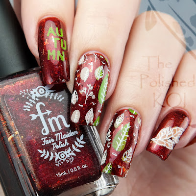 Fair Maiden Polish Room 13 UberChic fall nail art