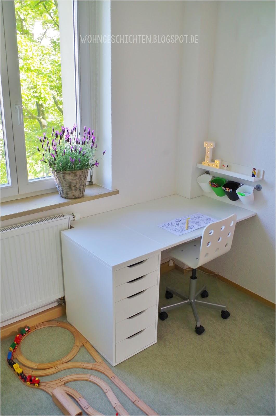 Wohngeschichten unser neues kinderzimmer for Ikea schreibtisch kinder
