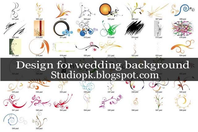 Psd Design for wedding backgrounds