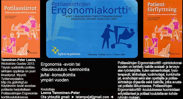 Potilassiirtojen Ergonomiakortt® -koulutusi | Ergonomisk förflyttningskunskap kort® -skolning