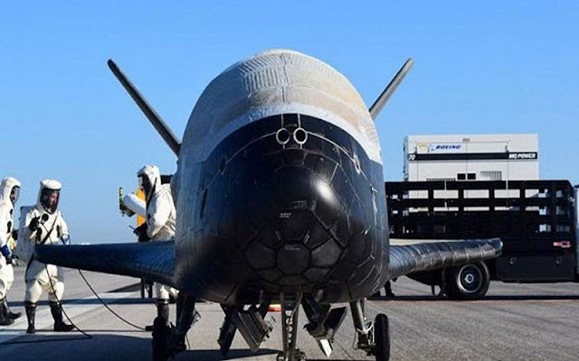 The X-37B aircraft the U.S. returned to Earth after 718 Days in space