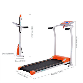 Ancheer S8400 Electric Treadmill, with folding deck, image, review features, specifications & dimensions