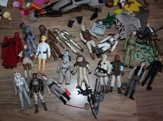 lot of vintage star wars figures