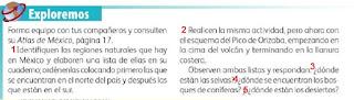 Respuestas Apoyo Primaria Geografía 4to. Grado Bloque III Lección 3 Las regiones naturales de nuestro país