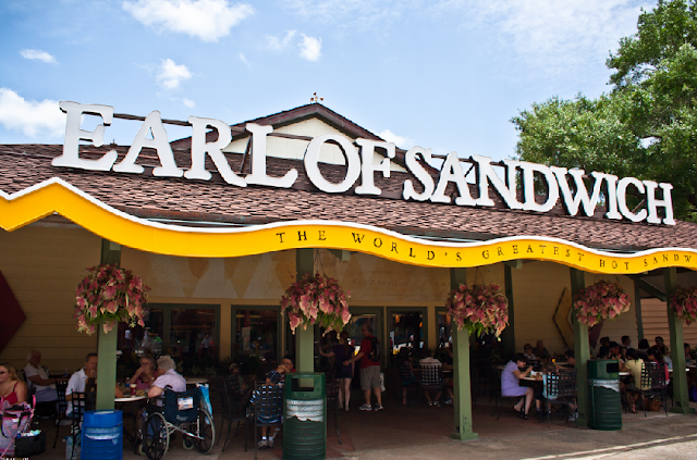 Entrada do Earl of Sandwich no Disney Springs em Orlando