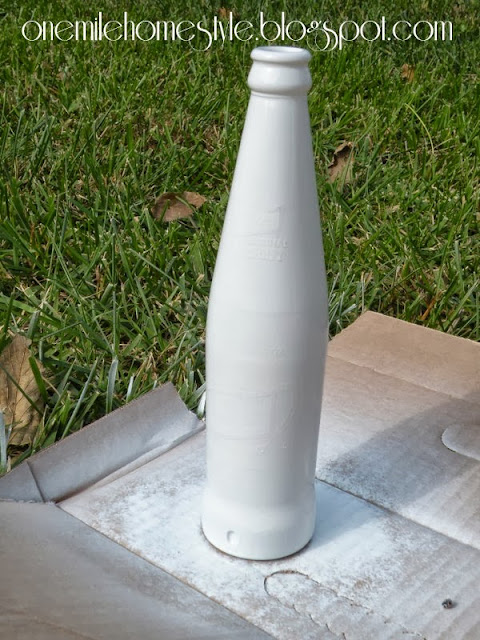 White painted bottle
