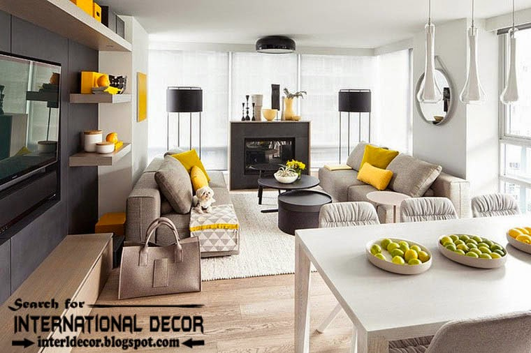 Best Color Combinations And Schemes In The Interior 2017 Grey Yellow