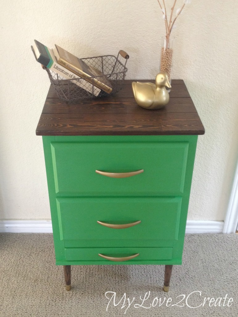 DIY night stand_finished night stand re-purposed