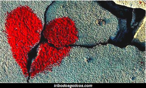 coração partido quebrado