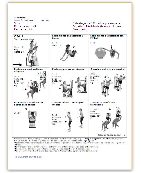 Plan de ejercicios plan de ejercicios fitness for Ejercicios de gym