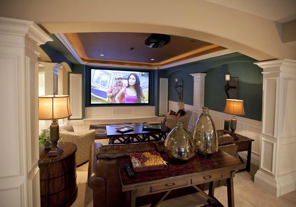 The Excellent Cozy design media room ideas picture